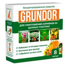 Грундор для уничтожения сорняков: поражает корневую систему и листья сорняков